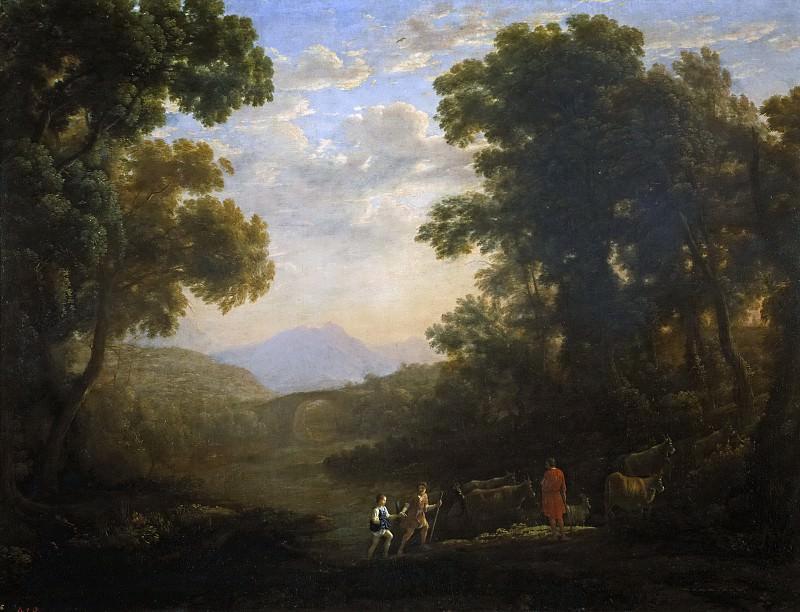 Lorena, Claudio de -- Vado de un río. Part 6 Prado Museum