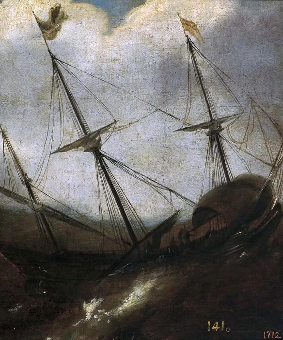 Anónimo -- Barco en una borrasca. Part 6 Prado Museum