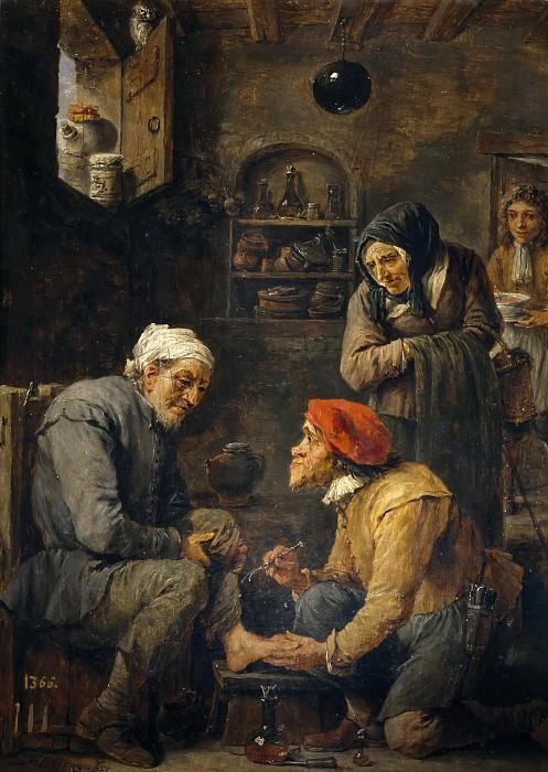 Teniers, David -- Operación quirúrgica. Part 6 Prado Museum