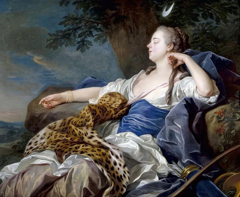 Loo, Louis Michel van -- Diana en un paisaje. Part 6 Prado Museum