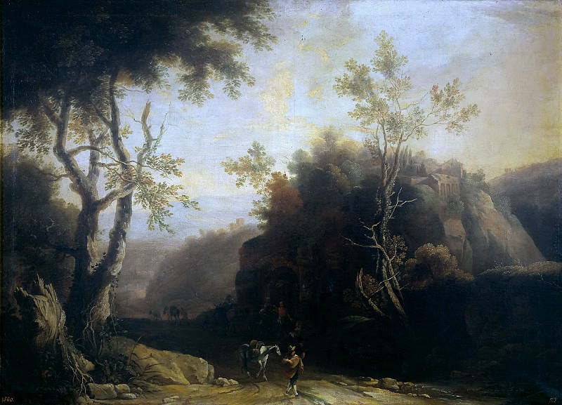 Спиринкс, Питер -- Пейзаж с таверной и римским акведуком. часть 6 Музей Прадо