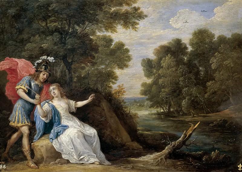 Teniers, David -- Reconciliación de Reinaldo y Armida. Part 6 Prado Museum
