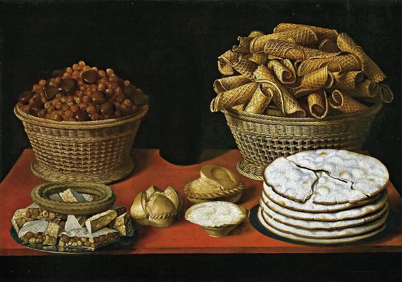 Hiepes, Tomás -- Dulces y frutos secos sobre una mesa. Part 6 Prado Museum
