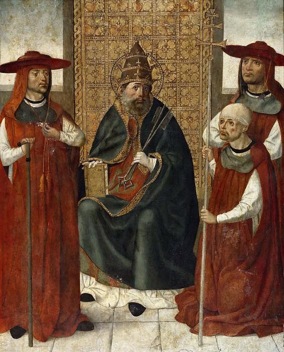 Anónimo -- El cardenal don Pedro de Mendoza orando ante San Pedro. Part 6 Prado Museum