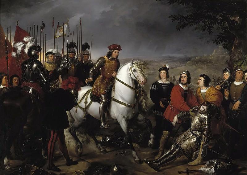 Madrazo y Kuntz, Federico de -- El Gran Capitán recorriendo el campo de la Batalla de Ceriñola. Part 6 Prado Museum