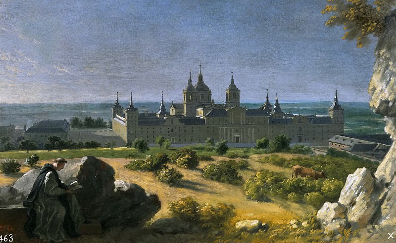 Houasse, Michel-Ange -- Vista del Monasterio de El Escorial. Part 6 Prado Museum