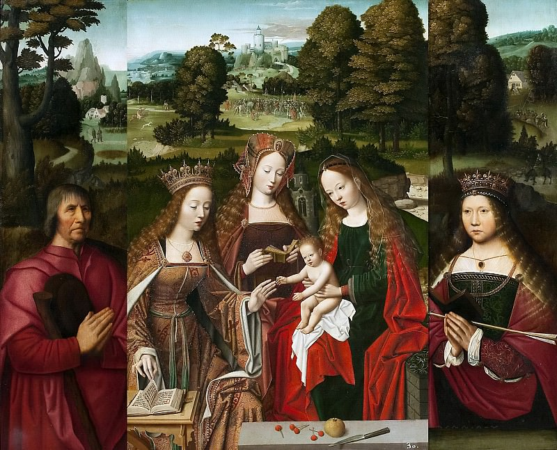 Аноним -- Мистическое бракосочетание св Екатерины (триптих). часть 6 Музей Прадо
