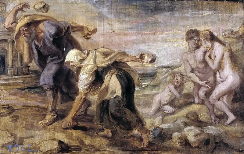Rubens, Pedro Pablo -- Deucalión y Pirra. Part 6 Prado Museum