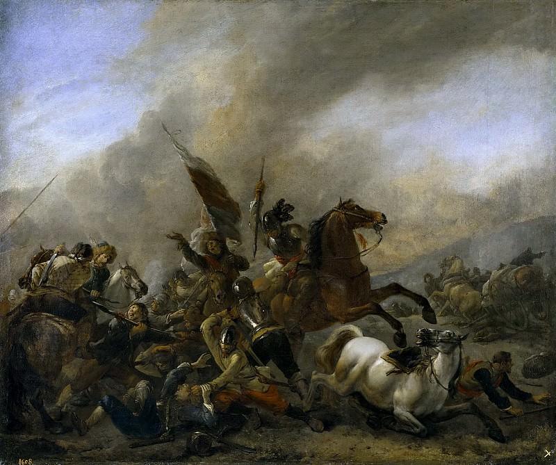 Wouwerman, Philips -- Refriega entre tropas enemigas. Part 6 Prado Museum