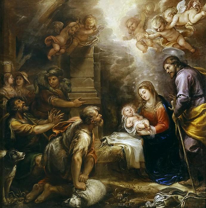 Rizi, Francisco -- La adoración de los pastores. Part 6 Prado Museum