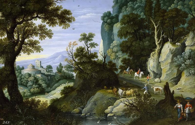 Ryckaert, Martin -- Paisaje quebrado y peñascoso. Part 6 Prado Museum
