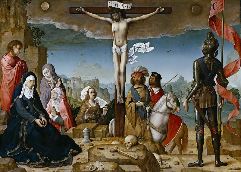 Flandes, Juan de -- La Crucifixión. Part 6 Prado Museum