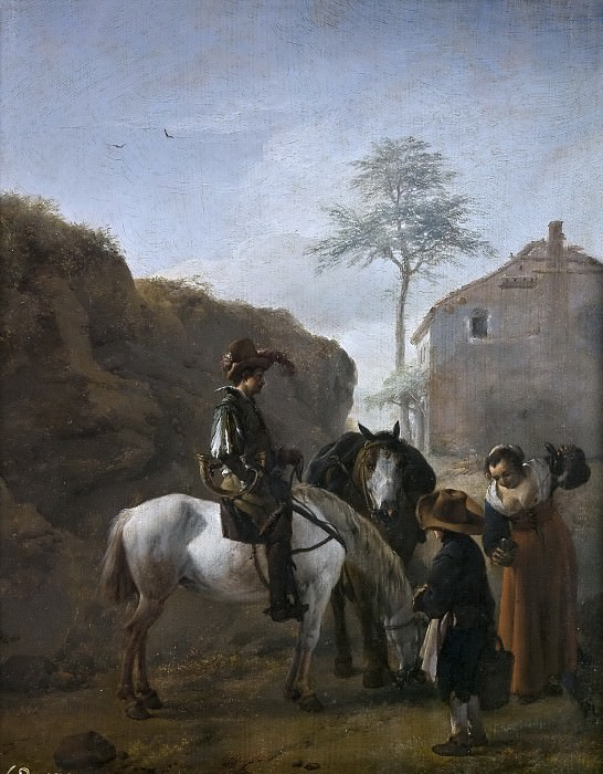 Wouwerman, Philips -- Un montero. Part 6 Prado Museum