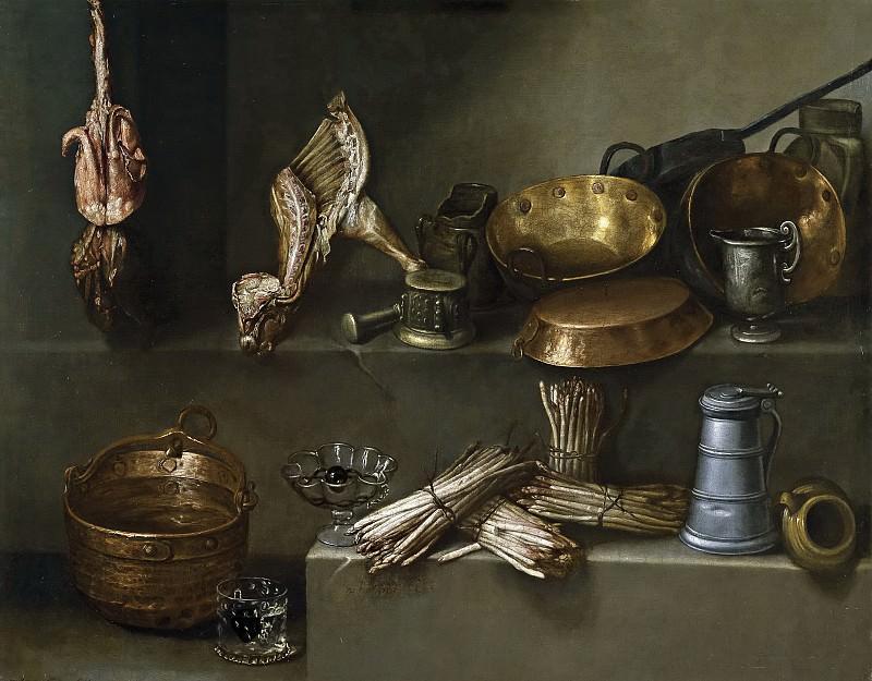 Arias, Ignacio -- Bodegón con recipientes de cocina y espárragos. Part 6 Prado Museum