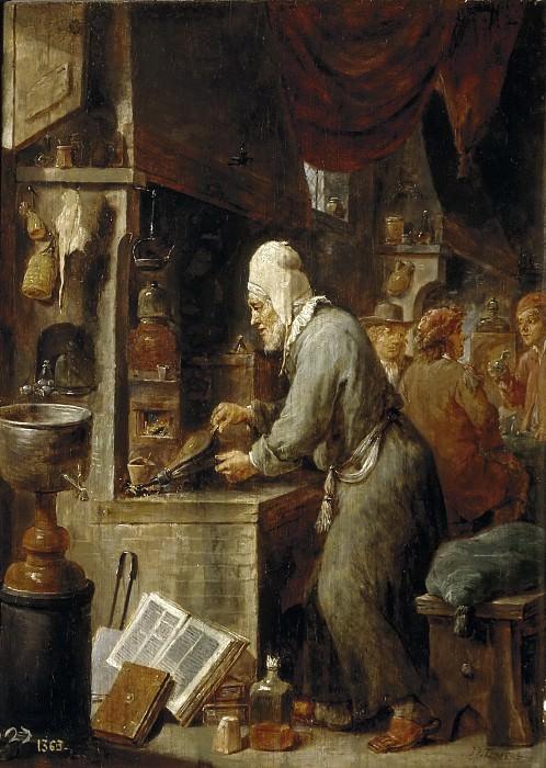 Teniers, David -- El alquimista. Part 6 Prado Museum