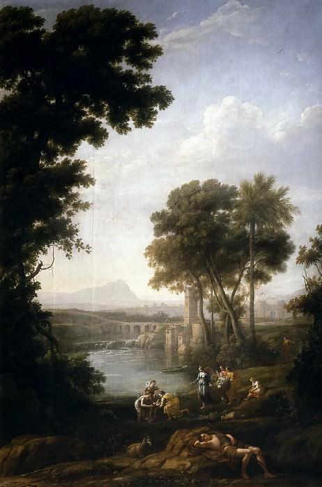 Lorena, Claudio de -- Moisés salvado de las aguas. Part 6 Prado Museum