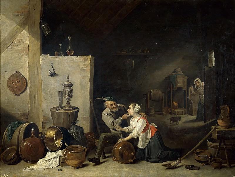 Аноним -- Старик и служанка (копия Двида Тенирса II). часть 6 Музей Прадо