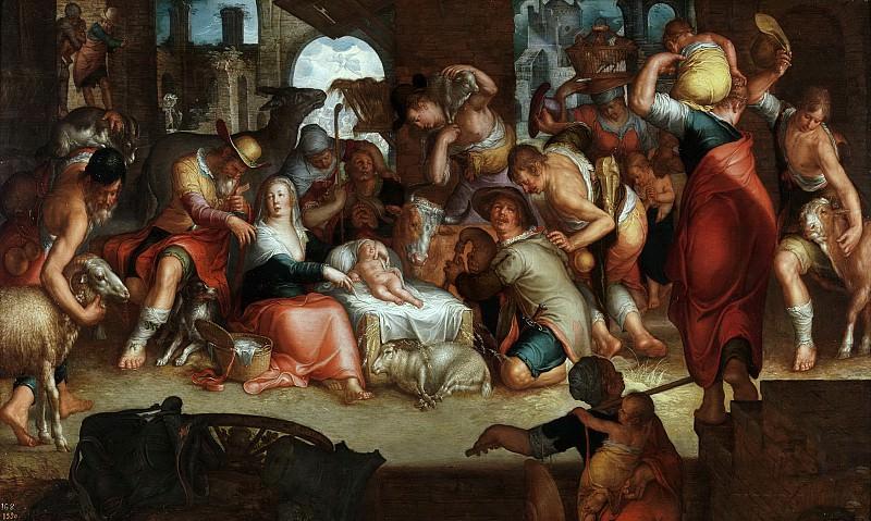 La Adoración de los pastores. Joachim Wtewael