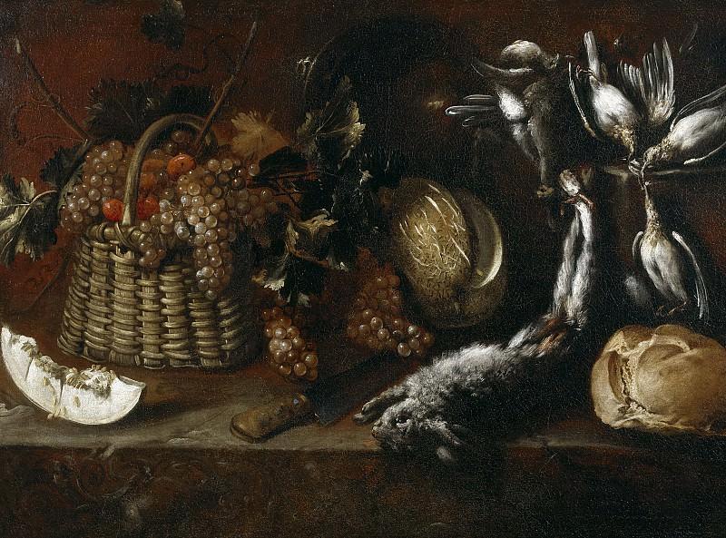 Переда и Сальгадо, Антонио де -- Натюрморт с дичью и фруктами. часть 6 Музей Прадо