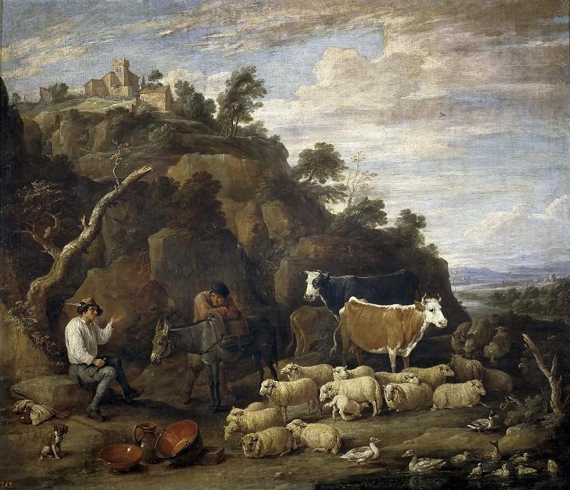 Teniers, David -- Coloquio pastoril. Part 6 Prado Museum