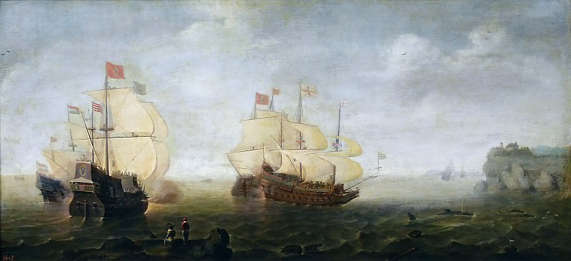 Wieringen, Cornelis Claesz. van -- Combate naval. Part 6 Prado Museum