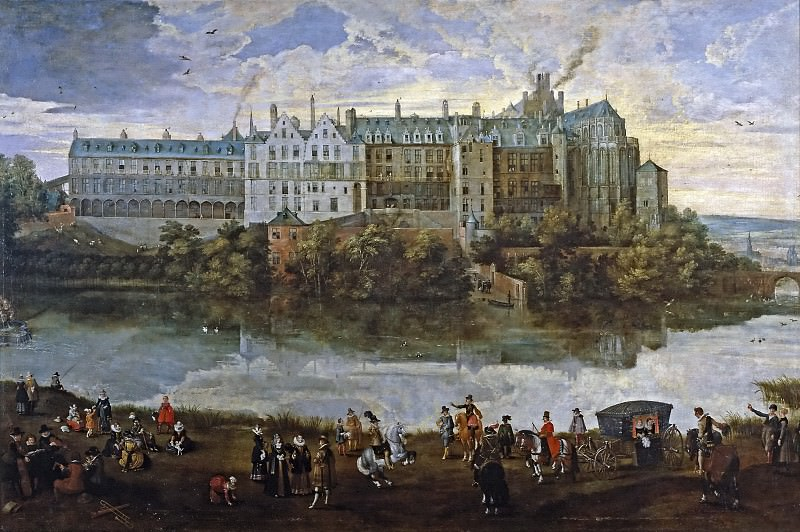 Brueghel el Joven, Pieter; Vrancx, Sebastian -- El Palacio Real de Bruselas. Pieter Brueghel the Younger