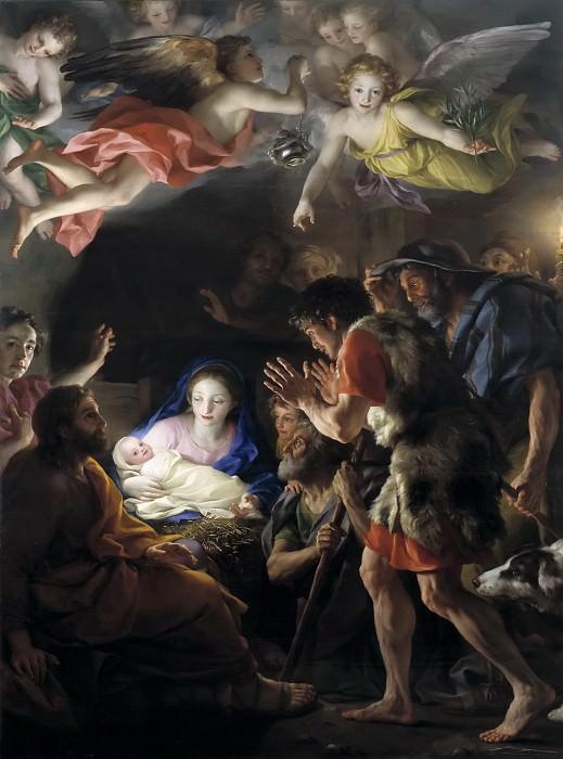 Mengs, Anton Rafael -- La Adoración de los pastores. Part 6 Prado Museum