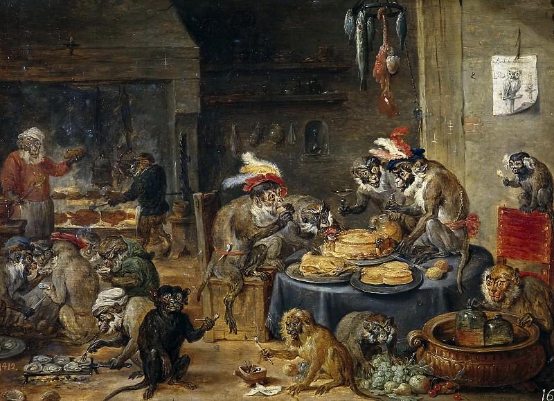 Teniers, David -- Banquete de monos. Part 6 Prado Museum