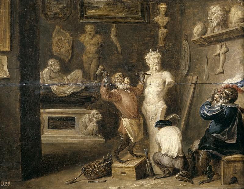 Teniers, David -- El mono escultor. Part 6 Prado Museum