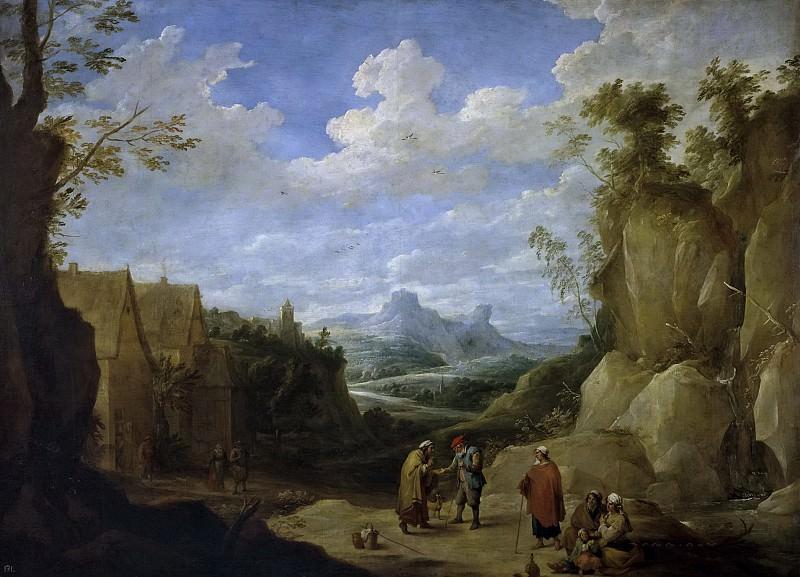 Teniers III, David -- Paisaje con gitanos. Part 6 Prado Museum