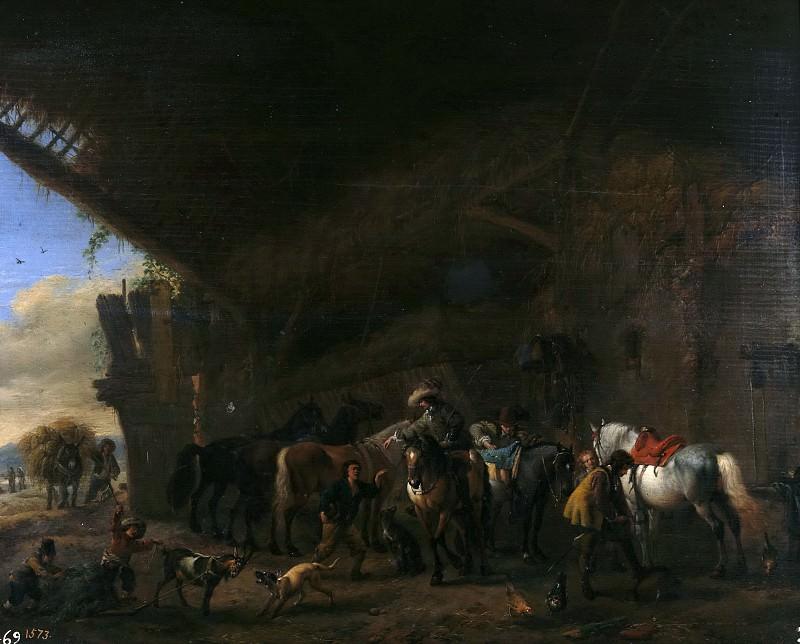 Wouwerman, Philips -- Salida de la posada. Part 6 Prado Museum