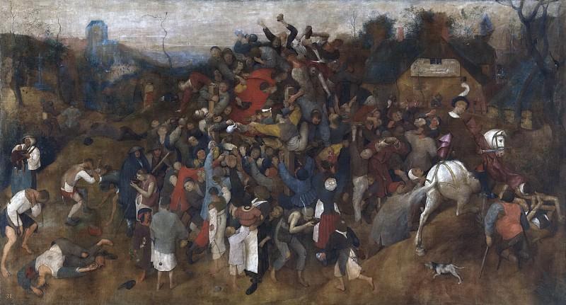 Bruegel el Viejo, Pieter -- El vino de la fiesta de San Martín. Part 6 Prado Museum