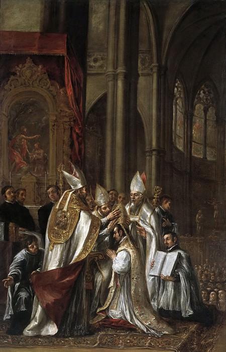 Valdés Leal, Juan de -- La consagración de San Ambrosio como arzobispo. Part 6 Prado Museum