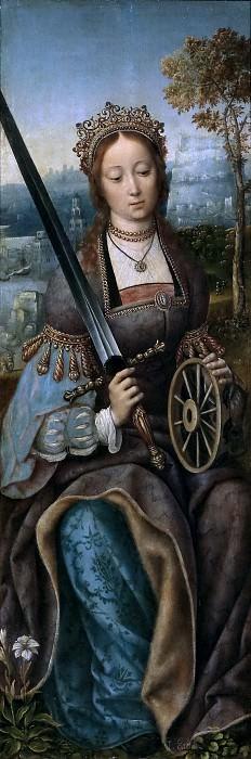 Maestro de Francfort -- Santa Catalina de Alejandría. Part 6 Prado Museum