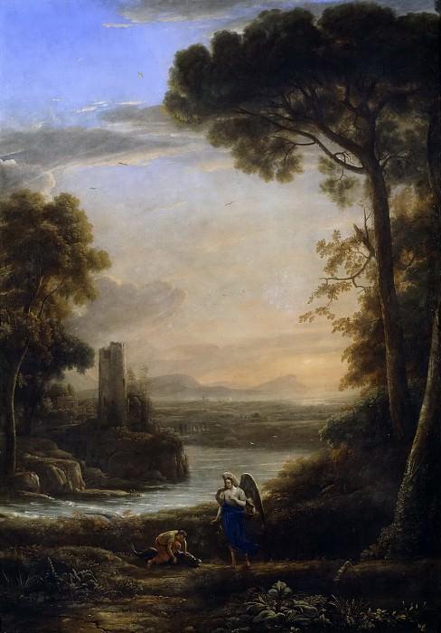 Лоррен, Клод (наст Клод Желле) (1600 Шампань - 1682 Рим) -- Архангел Рафаил и Товия. часть 6 Музей Прадо