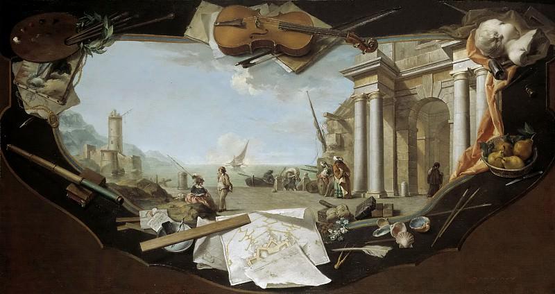 Flipart, Charles Joseph -- Paisaje con perspectiva arquitectónica. Part 6 Prado Museum