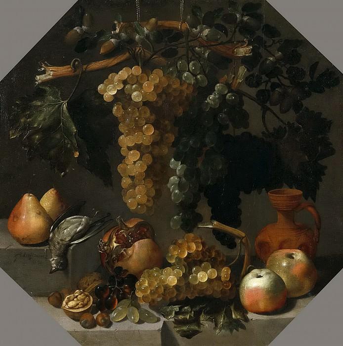 Espinosa, Juan de -- Bodegón ochavado con racimos de uvas. Part 6 Prado Museum