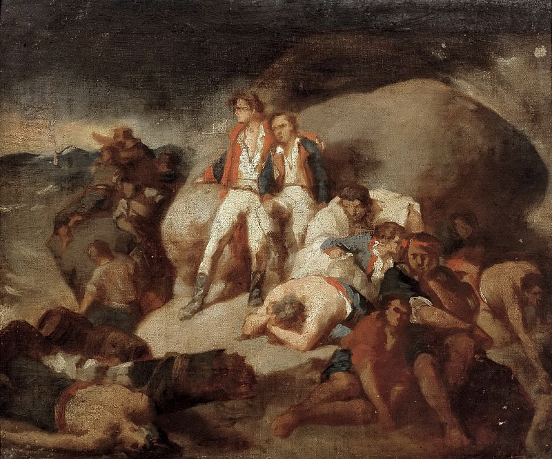 Sans Cabot, Francisco -- Episodio de la Batalla de Trafalgar (boceto). Part 6 Prado Museum