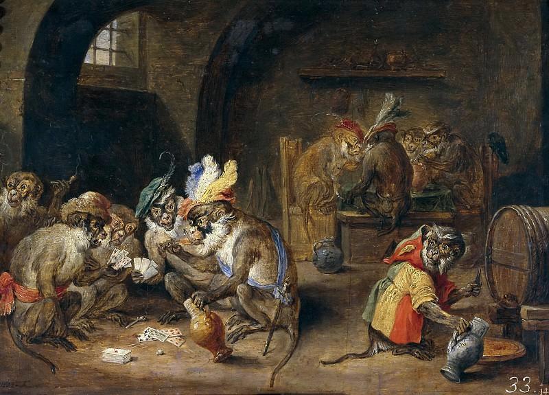 Teniers, David -- Monos en una bodega. Part 6 Prado Museum