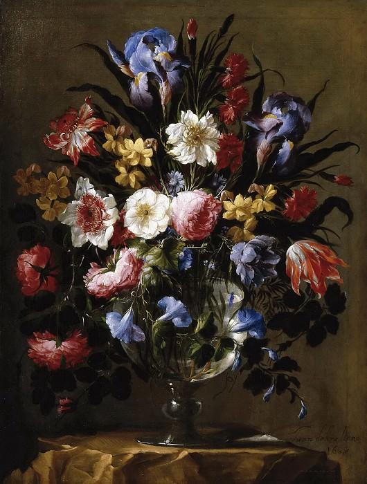 Ареллано, Хуан де -- Стеклянная ваза с цветами. часть 6 Музей Прадо