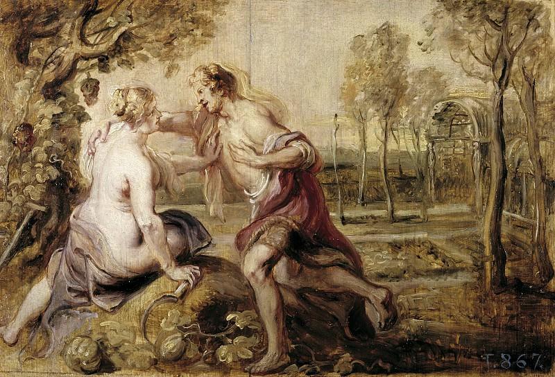 Rubens, Pedro Pablo -- Vertumno y Pomona. Part 6 Prado Museum
