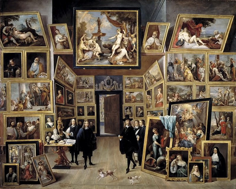 Teniers, David -- El archiduque Leopoldo Guillermo en su galería de pinturas en Bruselas. Part 6 Prado Museum