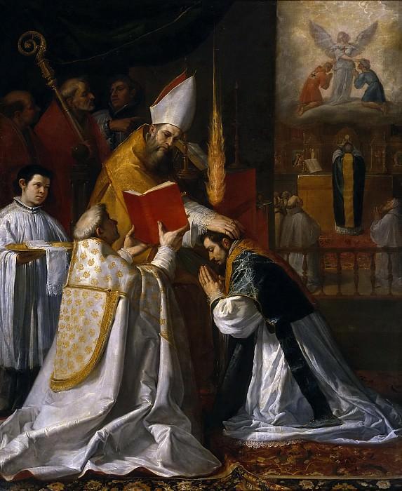 Carducho, Vicente -- Ordenación y primera misa de San Juan de Mata. Part 6 Prado Museum