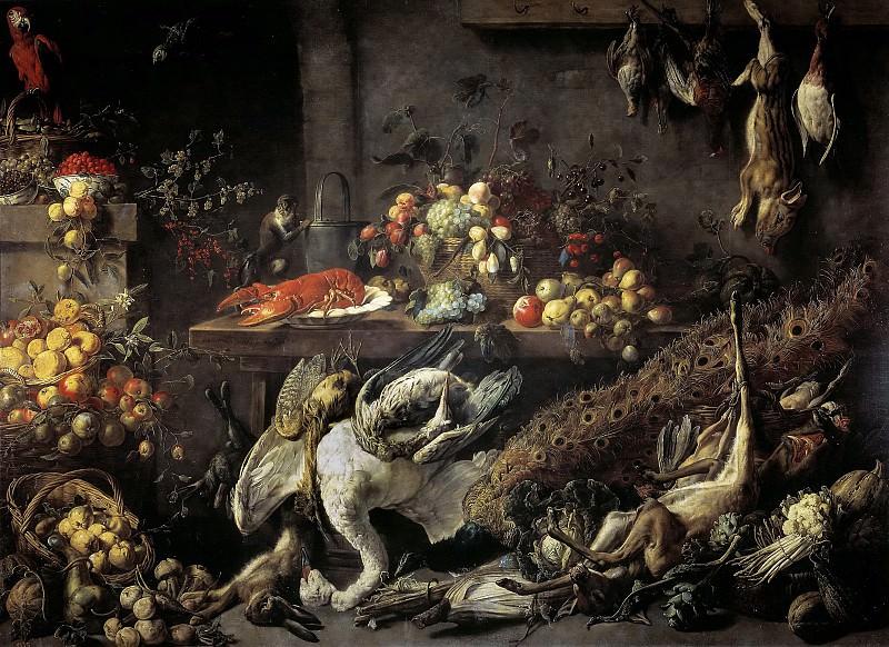 Utrecht, Adriaen van -- Una despensa. Part 6 Prado Museum