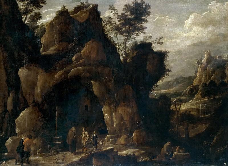 Teniers, David -- Paisaje con ermitaños. Part 6 Prado Museum