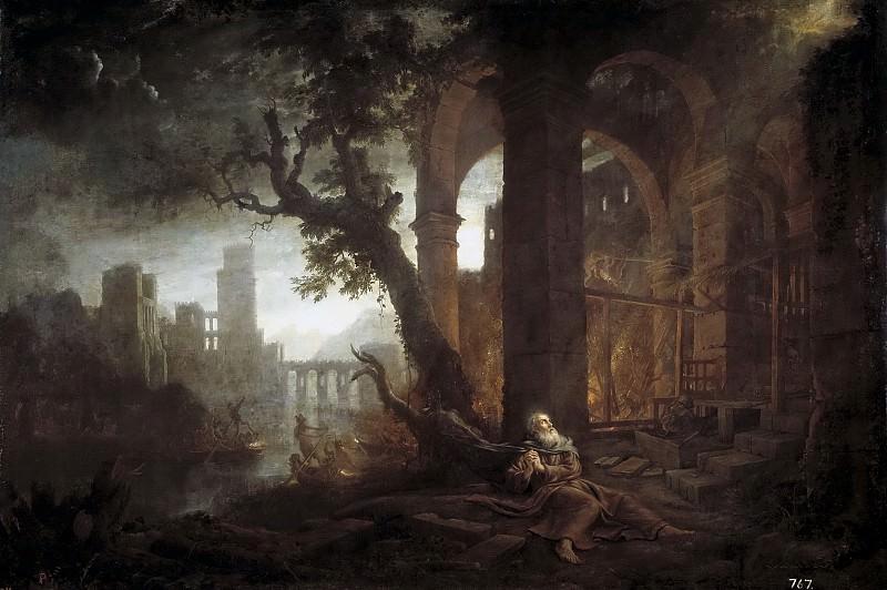 Lorena, Claudio de -- Paisaje con las tentaciones de San Antonio. Part 6 Prado Museum