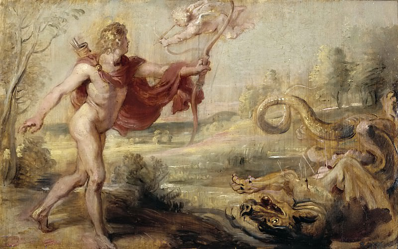 Rubens, Pedro Pablo -- Apolo y la serpiente Pitón. Part 6 Prado Museum