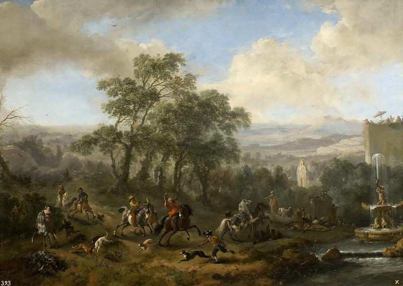 Wouwerman, Philips -- Cacería de liebres. Part 6 Prado Museum