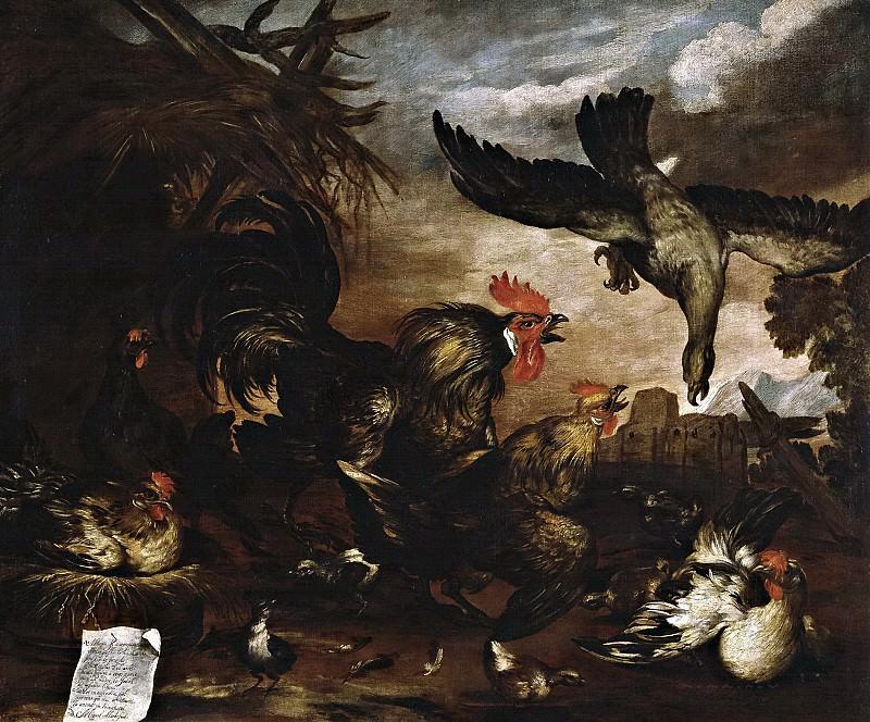 March, Miguel -- Milano atacando un gallinero. Part 6 Prado Museum