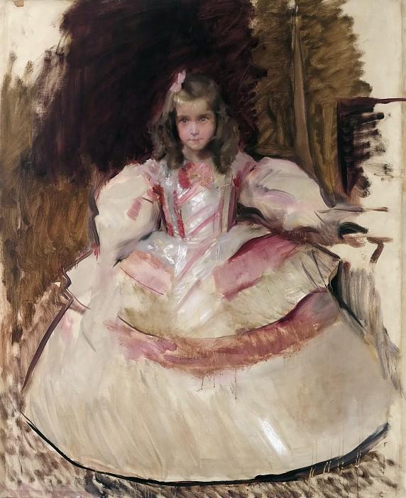Sorolla y Bastida, Joaquín -- La niña María Figueroa vestida de menina. Part 6 Prado Museum